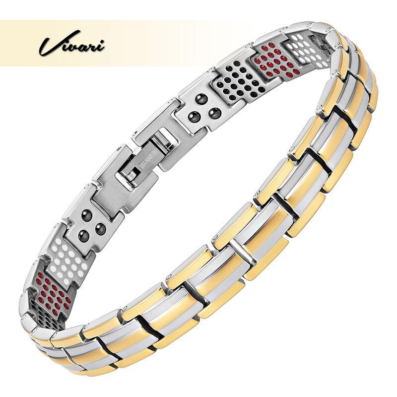 Vivari Titanium Magnetic Women's Health Bracelets&Bangle Slim Narrow Germanium Benefit Healthy 4 Elements Pulseras Hombre crest pro health healthy fresh toothpaste 4 7 8 oz