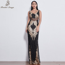 Poems Songs 2019 beautiful Angel wings Sequin Evening dresse