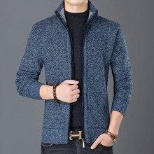 Fashion Wind Breaker Jackets Men Stand Collar Thicken Fleece Jacket
