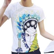 13f71c02bc92 jack Claude 3d T-shirts Summer Tops Tees Peking Opera female head o-neck short  sleeve