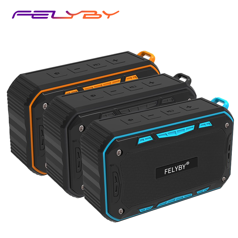 FELYBY Professional S618 Mini Portable Outdoor Wireless Bluetooth Stereo Speaker 3 color Waterproof for Sport and Phone ComputerFELYBY Professional S618 Mini Portable Outdoor Wireless Bluetooth Stereo Speaker 3 color Waterproof for Sport and Phone Computer