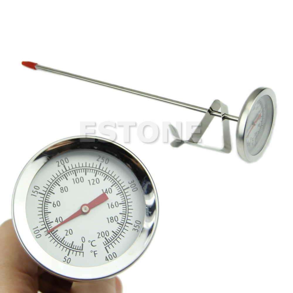 Hot Stainless Steel Cooking Oven BBQ Milk Food Meat 100°C Thermometer Gauge