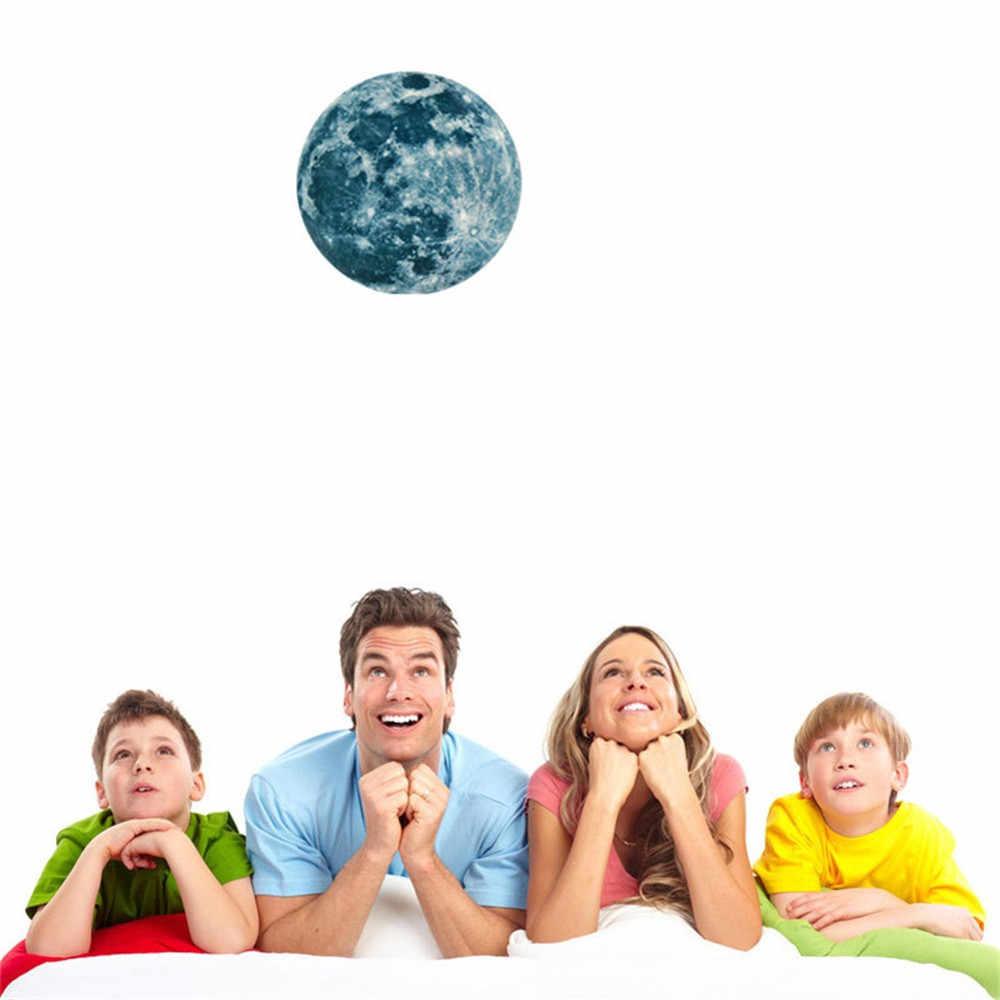 20 ซม.3D Luminous Moon สติกเกอร์ Earth การ์ตูน DIY เรืองแสงสติ๊กเกอร์ติดผนัง GLOW In The Dark Sticker For KIDS room #4