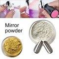 1 unids Shinning del Oro de la Astilla de Uñas Glitter Powder Powder Reflejar Necesita Color Base Del Polvo de Uñas de Arte Glitters DIY Pigmento de Cromo