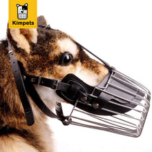 KIMHOME PET Strong Metal Wire Basket Dog Muzzle Basket Design Anti-biting Adjusting Straps Mask Chew Muzzles Free Shipping XXL