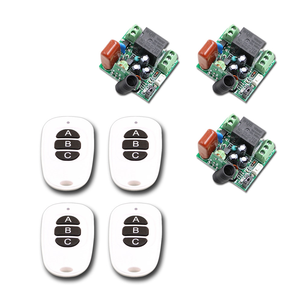 ФОТО 220V 10A 1CH RF Wireless Light Remote Control Switch the Mini Receiver Kit Board and Remote Control Automation Smart Home
