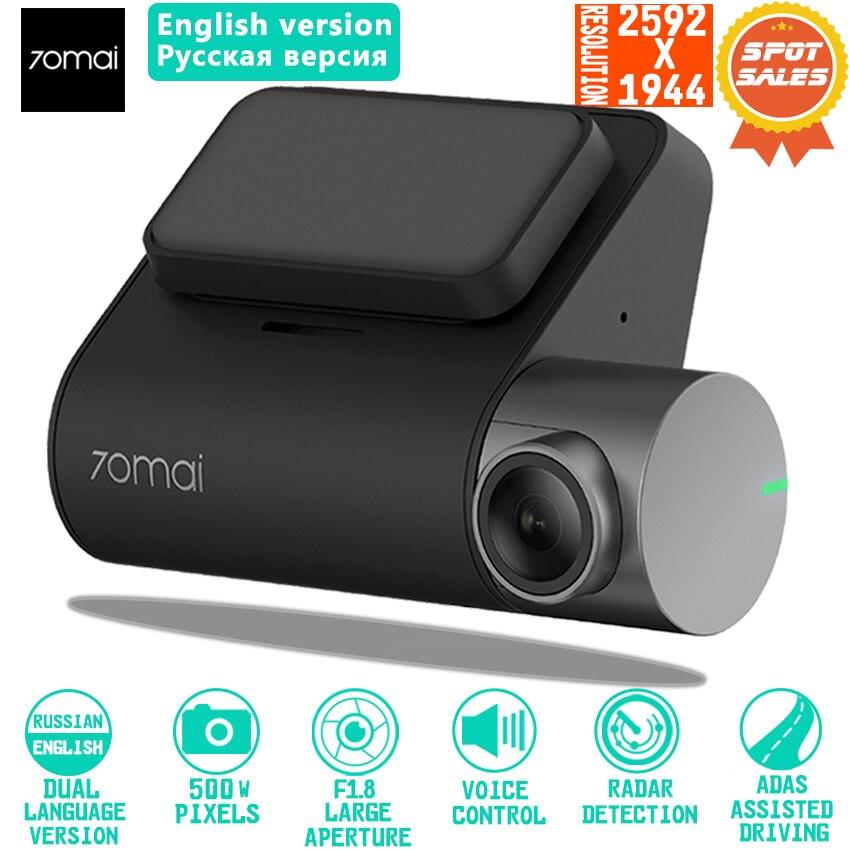 Xiaomi 70mai Traço Cam Pro Smart Car 1944 P HD Gravação De Vídeo Com Câmera GPS ADAS a Função WI-FI 140 FOV controle de Voz inglês