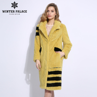 2018 Imported Fashion Slim ther mink fur coats Candy color real fur mink fur coat New trend fur coat Boutique Fashion mink