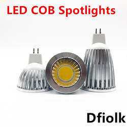 Новое высокое Мощность светодионая лампа MR16 GU5.3 GU10 COB 6 Вт, 9 Вт, 12 Вт, точечный светильник с регулируемой яркостью от монолитного блока