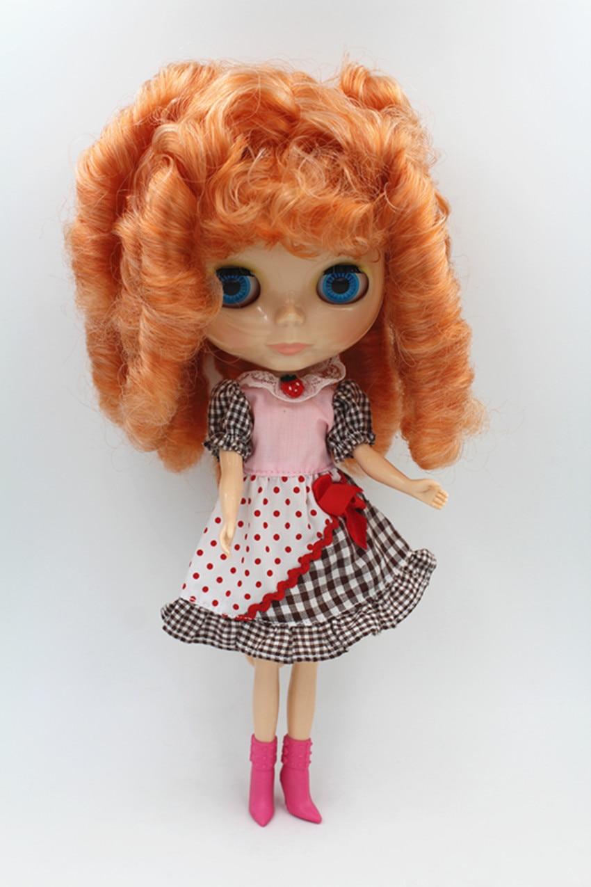 Blygirl Doll Абрикосова суміш волосся Блайт тіло Лялька Мода може змінити макіяж