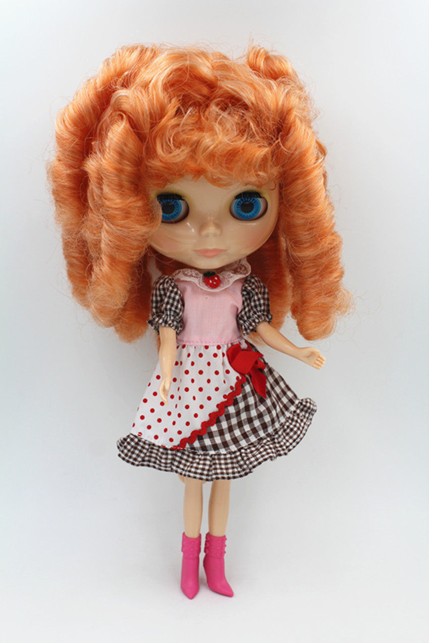 Mélange de cheveux Blygirl Doll abricot Blyth body Doll Fashion peut changer de maquillage