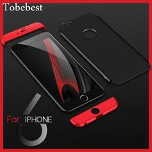 Tobebest 360 Degree Full Cover Red Cases For iPhone 6 6s Case luxury 3 in 1 Shockproof Hard Back PC Protect iphone