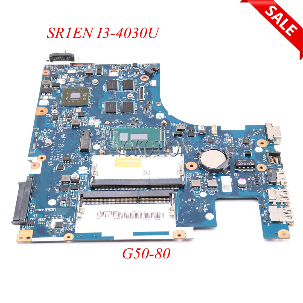 NOKOTION ACLU3 ACLU4 <font><b>NM</b></font>-<font><b>A361</b></font> laptop motherboard For <font><b>lenovo</b></font> Ideapad G50-80 R5 M330 DDR3L SR1EN I3-4030U Main board full work image