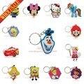 Cartoon Anime Cute Hello Kitty & Minion Búho Clave Tapa Del teclado de Silicona casquillo de La Manera de Las Mujeres Llavero Llavero Llavero Key Holder regalos