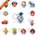 Cartoon Anime Silicone Cute Hello Kitty&Minion Owl Key Cover Key Cap Fashion Keychain Women Key Chain Key Ring Key Holder Gifts