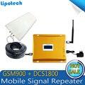 1 Conjunto Display LCD Repetidor De Alto Ganho Dual Band Telefone Celular Móvel 2G 3G Reforço De Sinal GSM 900 mhz DCS 1800 mhz Amplificador de Sinal