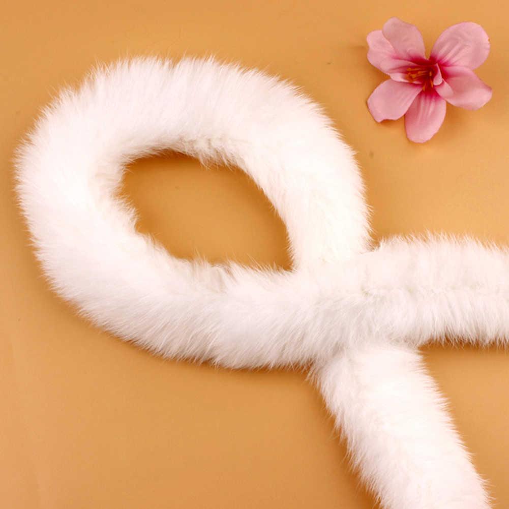 리본 액세서리 봉제 인조 토끼 모피 모피 트리밍 테이프 다운 재킷 털이 DIY 의상