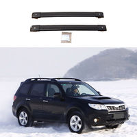2*Black Aluminum Cross Bar Roof Cargo Luggage Rack For Subaru Forester 2008-2016