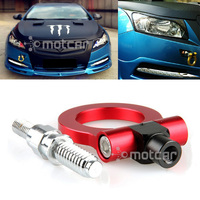 Universal Red Aluminum Car Auto Racing CNC Trailer Ring Tow Hook Eye Tow Car Screwon Front