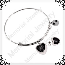 MJB5017 Cremation Urn Cuff Bracelet Stainless Steel Remembrance Memorial Jewelry Bangle Pet Always In My Heart