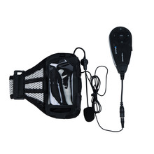 2017 Capacetes 1200m 5 Riders Real Time Talking Motorcycle Bluetooth V5 Helmet Intercom + Football Referee Headset With Armband