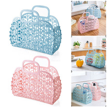 Shower Basket Organizer Multi-purpose Plastic Home Storage Shopping Holder Accessories Durable Bag Kitchen Tool