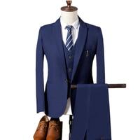 Jackets+vest+pants Fashion Male Quality Slim Business BLAZER / Men Groom Dress Suit Three piece Suits Sets Trousers Waistcoat