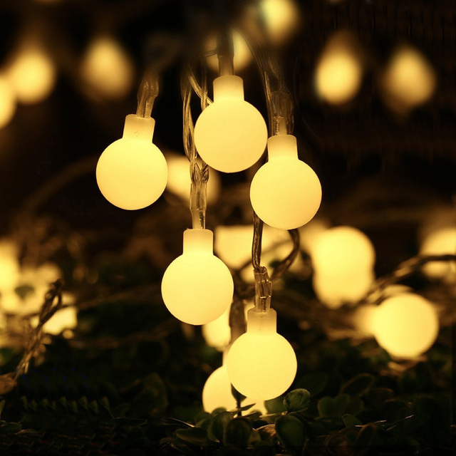 100 led string fairy lights garland bulbs globe festoon light 100 led string fairy lights garland bulbs globe festoon light outdoor decorations led curtain christmas party aloadofball Gallery