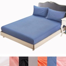 Super soft solid Fitted Sheet Mattress Cover with All-around Elastic Rubber Band Bed Sheet Hot Selling Bed Linens