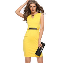S-XXXL New Summer Fashion Sleeveless Sequined Elegant Party Wear To Work Fitted Stretch Slim Wiggle Dress AA0048