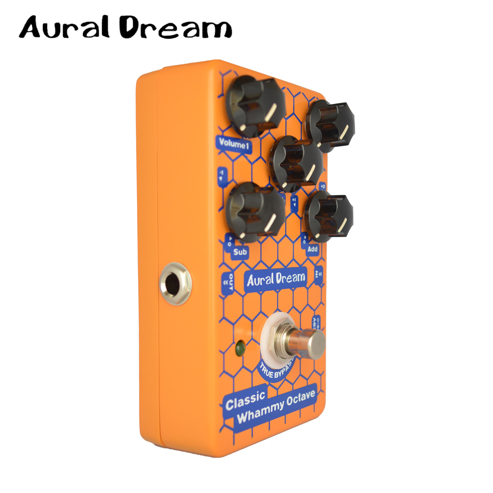 Aural Dream Classic Whammy Octave 2 Volume Digital Effects Pedal with DRY SUB ADD Knob Guitarra Accessory deadpool classic volume 2