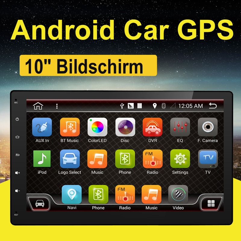Quad 4 Core 2 Din Android 7.1 Car Radio DVD Player 10.1 Inch 1024*600 HD Car GPS Navigation Head Unit Stereo Auto Radio AUX IN quad 4 core 7 inch 2 din android 7 1 car audio non dvd stereo radio gps 3g wifi gps navigation head unit for universal car