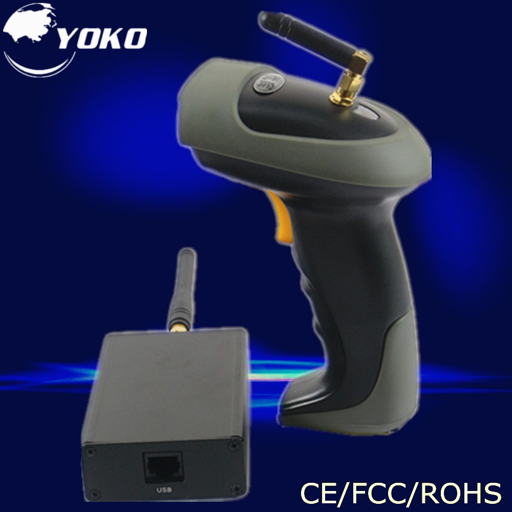 ФОТО Wireless handheld laser barcode Scanner  USB2.0 RS-232 PS/2 interface Free shipping