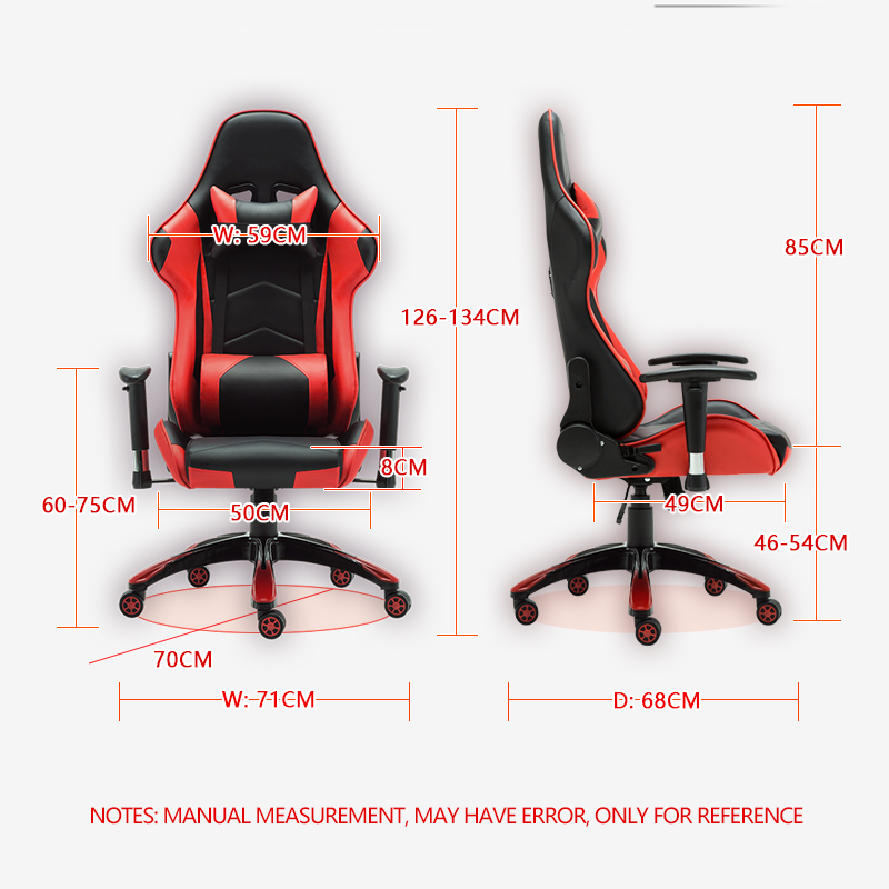 Bortran Gaming Chair With Black And Ferrari Red Color By Factory Direct Sale Racing Chair With Headrest And Big Lumber Support Gaming Chair Racing Chairchair Racing Aliexpress