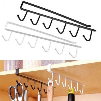 Pod wieszak do szafki Rack z 6 hakami szafka kuchenna półka do przechowywania hak WXV sprzedaż tanie i dobre opinie STAINLESS STEEL