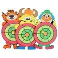 Espuma suave Césped Objetivo de Lanzar Dardos Pegajoso Bolas Niños niños de Dibujos Animados de Succión Familia Lanzando Pelota de Juguete Juego de Sacos de arena de Fitness