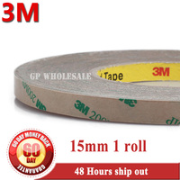 1x New 15mm 55M 0 13mm 3M 9495MP 200MP Adhesive Clear PET 2 Sides Sticky Tape