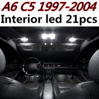 NightLord 21pcs X free shipping Error Free LED Interior Light Kit Package for Audi a6 c5 rs6 accessories 1997-2004