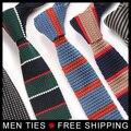Hombres Corbatas A Rayas Ocasionales 2017 de Alta calidad Accesorios de Punto Corbatas Hombre corbatas flacas Delgadas de Negocios envío de La Gota