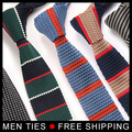Men Casual Striped Neck Ties 2017 High quality Slim skinny Business Accessories Knitted Ties Male neckties Drop shipping