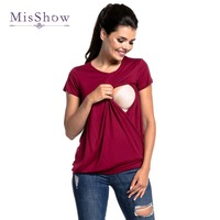 Newly Plus Size Pregnant Clothes Summer Breastfeeding Tees Maternity Women T Shirt Nursing Tops Maternity Clothes
