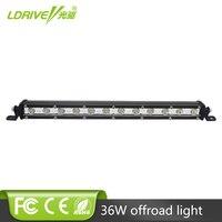 LDRIVE 13 Cree Chips LED Car Work Light Bar 12V Daytime Running Lamp 36W 24V Tractor
