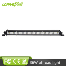 LDRIVE 13 Cree Chips LED Car Work Light Bar 12V Daytime Running Lamp 36W 24V Tractor Spot DRL For Jeep BMW  ATV ORV