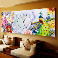 Peacock Penoy Flowers Pattern Mosaic Diamond Embroidery Kit 5d Diy Diamond Painting Cross Stitch WithTable