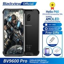 "Blackview BV9600 פרו Helio P60 אנדרואיד 8.1 6GB + 128GB נייד טלפון IP68 עמיד למים 6.21 ""19:9 FHD AMOLED 5580mAh NFC Smartphone"