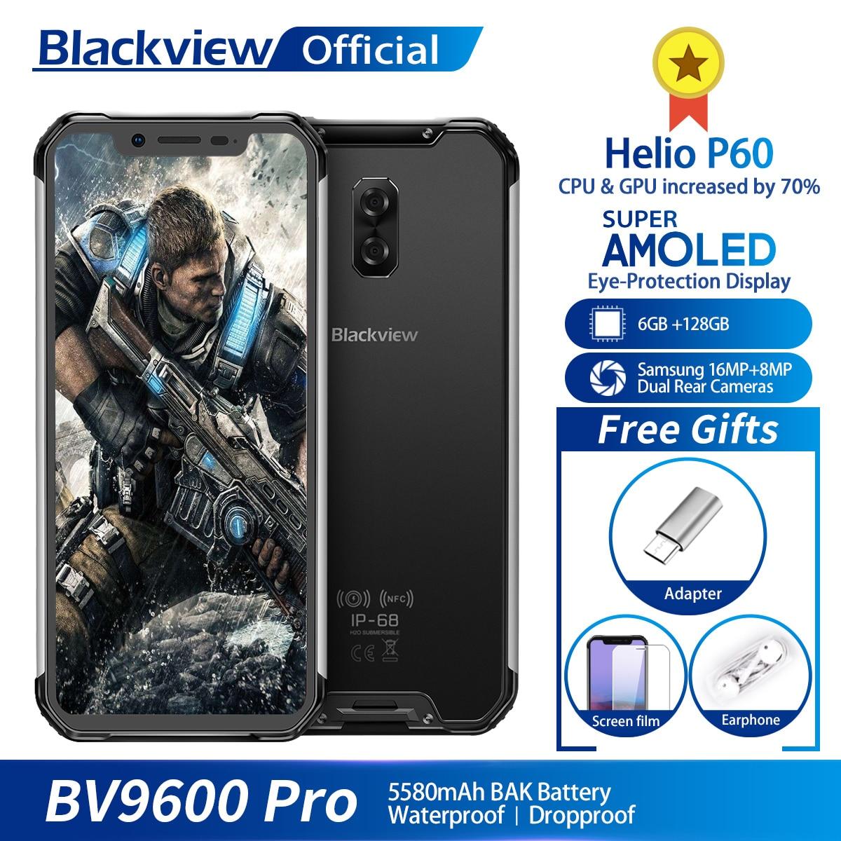 Blackview BV9600 Pro Helio P60 Android 8.1 6GB+128GB Mobile Phone IP68 Waterproof 6.21