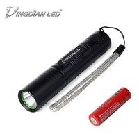 DINGDIAN светодиодный 400LM фонарик Cree Мощный 18650 аккумулятор светодиодный фонарик водонепроницаемый ручной тактический фонарик для кемпинга фа...