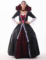 Female Vampire Zombie Costume Halloween Ghost Bride Masquerade Party Costumes Dress Women Witch Queen Halloween Cosplay