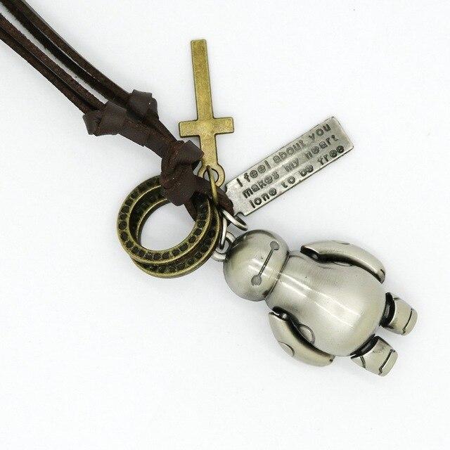 Фото новое модное ювелирное изделие мужское ожерелье с медведем панк
