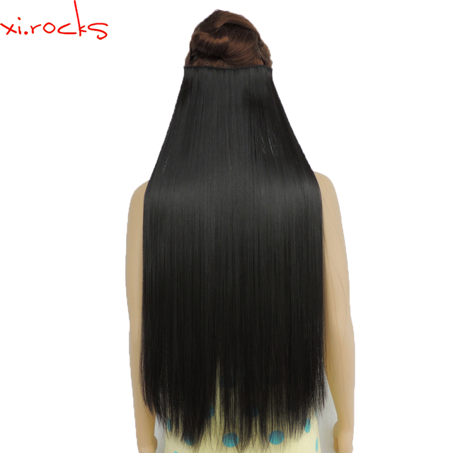 5piecelot Xicks Synthetic Clip In Hair Extension 28inch Length